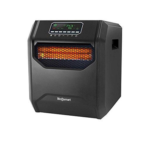 Lifesmart ZCHT1001US Zone Series 4 Element Infrared Heater, Black