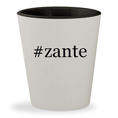 #zante - Hashtag White Outer & Black Inner Ceramic 1.5oz Shot Glass