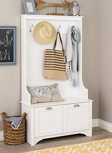 Amazon.com: Eltta- White Wood with Shaker Doored Cabinets ...