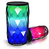 Bluetooth Speakers Portable Smart Touch LED Light Creative HD Sound Audio Built-in Mic