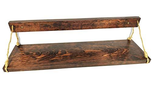 Brico Repisa de Madera con Cuerda de Henequen 6X17 Pulgadas
