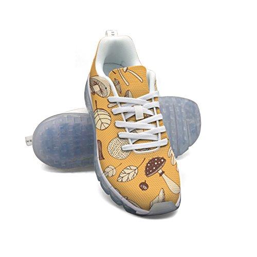 Faaerd Disegnati A Mano Delle Donne Del Fungo Maglia Traspirante Scarpe Sportive Cuscino Scarpe Da Tennis Ambulanti Aria Respirabile Scarpe Da Corsa Atletica
