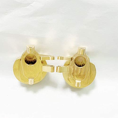 Nrpfell 2 Teiliges Achsschenkel GehhUse Set Aus Messingportal f/ür 1:10 RC Crawler Axial SCX10 III AXI03007 Capra 1.9 UTB AXI03004
