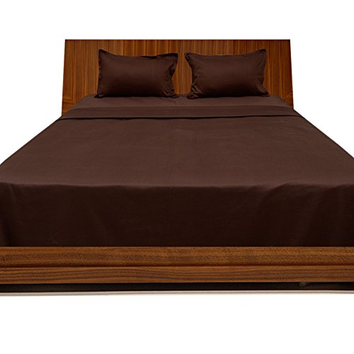 Floris Fashion Full 300TC 100% Egyptian Cotton Luxury Chocolate Solid 4 Piece Sheet Set Solid (Pocket Size: 25 inches) - Tailored Finish Super Comfy Easy Care Fabric price