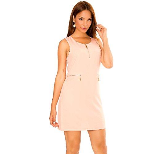 Miss Wear Line Damen Straight Leg Kleid rosa Rose