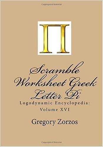 Scramble Worksheet Greek Letter Pi: Logodynamic Encyclopedia ...