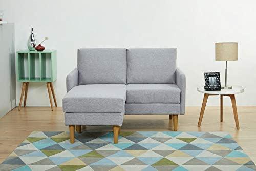 Amazon.com: Artdeco Home Corona Love-seat L-Shape Sofa (Moon ...