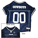 Pets First Official NFL Dallas Cowboys Jersey Large