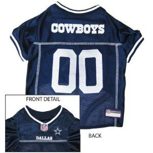 Pets First Official NFL Dallas Cowboys Jersey Large by Mirage
