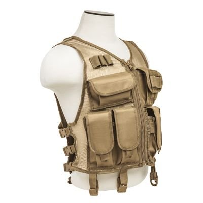 NcSTAR CMTV2951T Vism Lightweight Mesh Tactical Vest Tan, M-XL