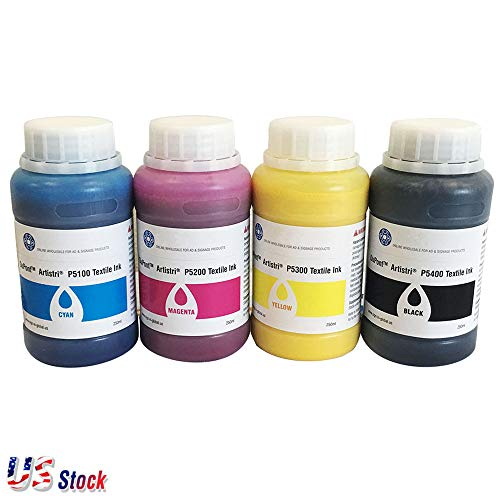 DTG Ink Dupont Artistri CMYK Textile Ink DTG Ink Pigment Ink - P5000+ Series - 1L(250ML/bottle/color) - US Stock (CMYK)