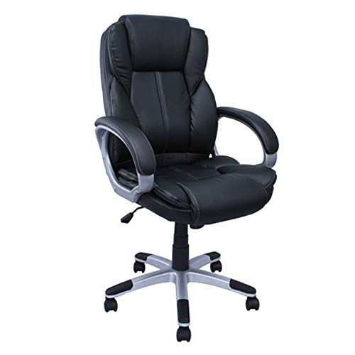 ALEKO ALC2219BL Executive PU Leather High Back Ergonomic Office Desk Chair Ergonomic Computer Home 20 x 27 Inch Back Black
