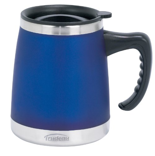 - Trudeau Maison Umbria Desk Mug, 15 oz, Blue