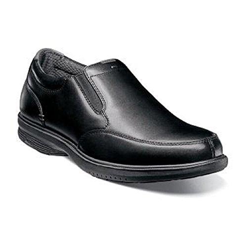 Nunn Bush Men's Myles Street Slip-On Loafer (10 W) Black (Nunn Bush Slip Resistant)