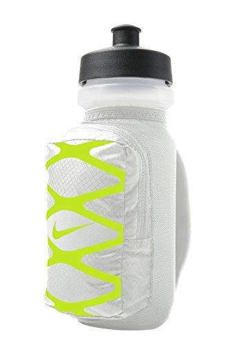 Nike Trinkflasche Laufflasche Storm Hand Held Water Bottle 620ml Jogging Running silber