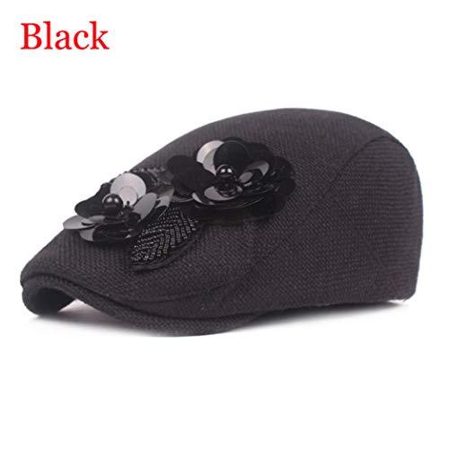 Flowers Berets Hat Cotton Linen Gatsby Cap Ivy Hat Golf Driving Flat Cabbie Newsboy Caps
