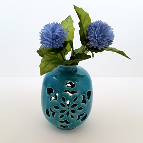 (ArioCraft Handmade Decorative Ceramic Vase, Pottery Home Decor)