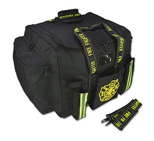 Lightning X Premium Step-In Turnout Gear Bag Front Operations Pocket Black
