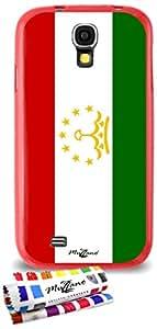 Carcasa Flexible Ultra-Slim SAMSUNG GALAXY S4 ADVANCE de exclusivo motivo [Tayikistan Bandera] [Roja] de MUZZANO  + ESTILETE y PAÑO MUZZANO REGALADOS - La Protección Antigolpes ULTIMA, ELEGANTE Y DURADERA para su SAMSUNG GALAXY S4 ADVANCE