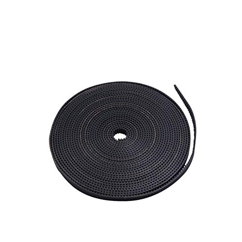 HICTOP 3D Printer Timing Belt 5 Meters GT2 2mm Pitch 6mm Wide for Creality Ender 3 3 Pro Ender 5 CR-10 10S Anet A8 CNC (5 X 6 Teeth)