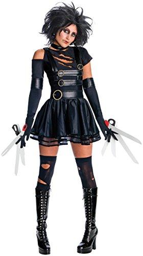 Secret Wishes Womens Edward Scissorhands Miss Scissorhands Costume, Black,