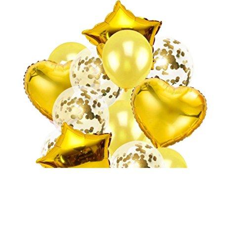 YJYdada 12'' Confetti Balloons 14x/Set Latex Wedding Party Baby Shower Birthday Decor - Mountain Square Shower