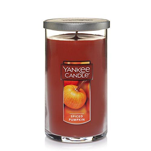 Yankee Candle Medium Perfect Pillar Candle, Spiced Pumpkin Pillar Pumpkin