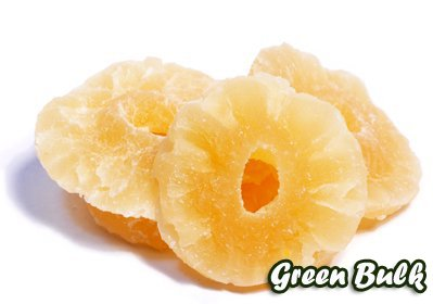 Natural Dried Pineapple Rings-Low Sugar, No Sulfur, (1 lb Natural Rings) by Green Bulk