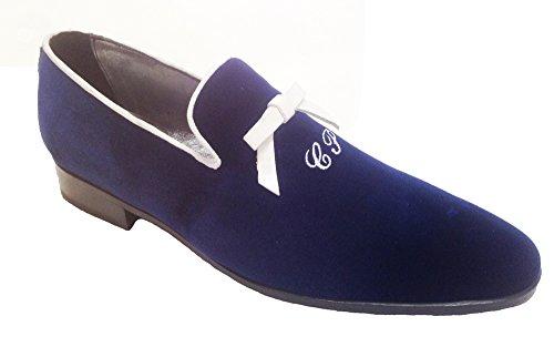Slippers Uomo Personalizzate Con Blu Iniziali Velluto In Scarpe 1PBqxwzRB