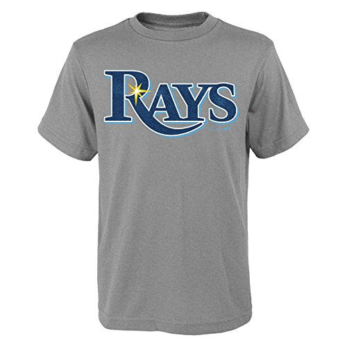 MLB  Tampa Bay Rays Youth Boys 8-20 Wordmark Tee-M - Clothing Rays