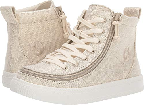 BILLY Footwear Kids Baby Girl's Classic Lace High (Toddler/Little Kid/Big Kid) Natural Gold 2 M US Little Kid - High Footwear Sneakers