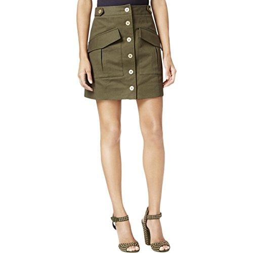 Green Cargo Skirt (Rachel Rachel Roy Womens Denim Utility Cargo Skirt Green 8)