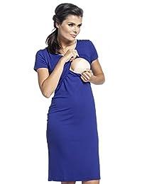 Zeta Ville - Womens Maternity Nursing Nightdress Breastfeeding Nightie - 274c