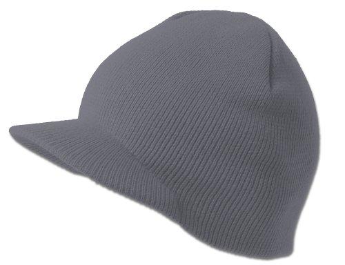 Cuffless Beanie Visor Cap