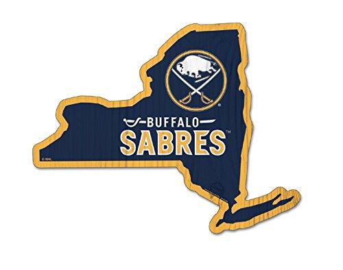 Buffalo Sabres Street Sign - NHL Buffalo Sabres 11''x14'' inch Wood State Shape Sign