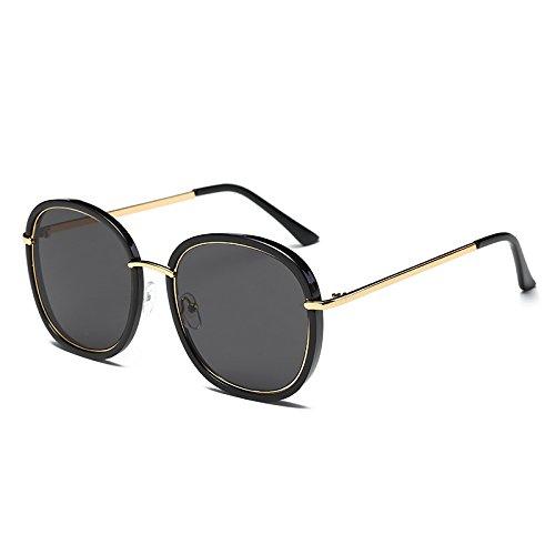 Gold azul Bastidor de C1 C4 G410 espejo TL UV sol Sunglasses gafas Flor Mujer gafas gafas de Cuadrado Black polarizadas de tonos sol señoras Unidad Negro wFBq8tSF