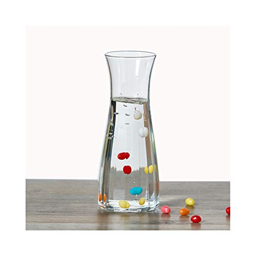Drink Pitcher and Elegant Wine Decanter, Creative Vase Polygon For Easy Grip, Wide Mouth for Classic Pouring - Great for Parties and Events (16.9OZ/500ML)