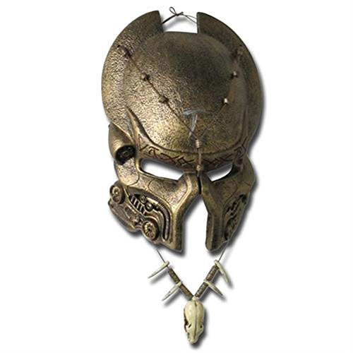 Ancient Predator AVP Mask & Necklace Combo Set (Predator Costumes For Kids)