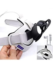 2021 BeswinVR Halo Padding Kit 3 in 1 & Power Bank Holder for Oculus Quest 2 Strap, Halo Strap and BOBOVR M2- White