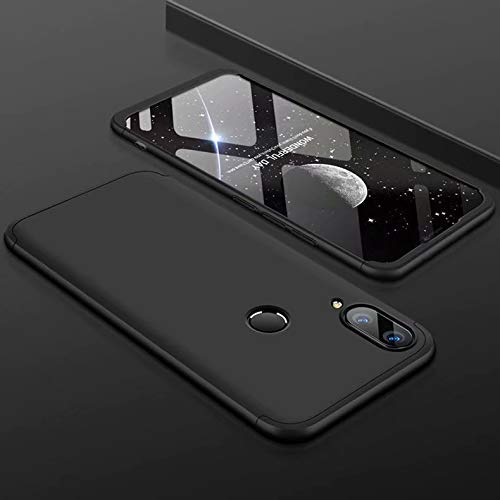 MYLB-US Xiaomi Redmi Note 7 case Ultra-Thin 360-degree Body Protection [3 in 1] Removable PC Hard Shell, Suitable for Xiaomi Redmi Note 7 case (Black)