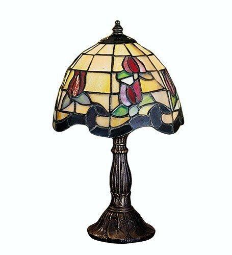 Rose Border Accent Lamp - Meyda Home Indoor Bedroom Decorative 11.5