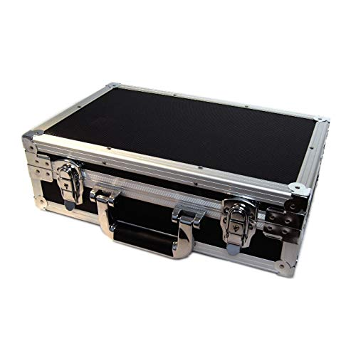 U1 Black Metal Storage Case for Trading Cards TCG Ultra Pro Deck Protector Sleeve Deck Box MTG Magic The Gathering YGO Yugioh Match Attax Board Games Sports Wow Pokemon Toploader Vanguard Carry Cube ()