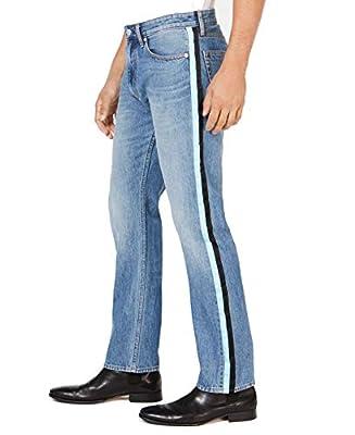 Calvin Klein Mens Jeans 34x32 Side Stripe Classic Straight Leg Blues