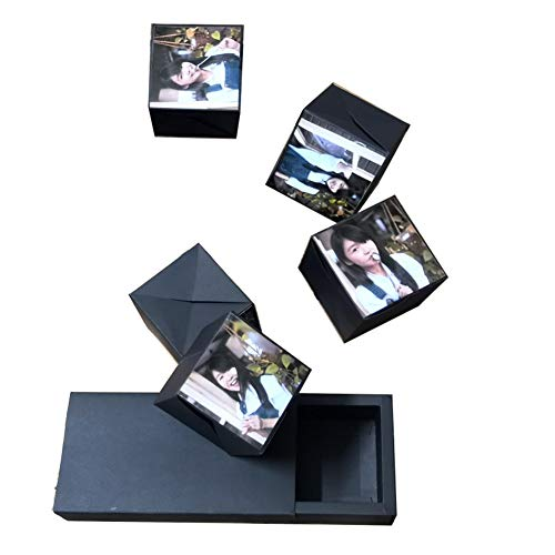 Nuxn Free Assemble Creative Explosion Box Upgrade DIY Photo Album Scrapbooking Surprise Gift Box for Birthday, Valentine,Anniversary, Wedding -