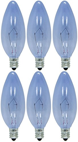 GE Lighting 48701 40-Watt Reveal Blunt Tip B10, 6-Pack - 40w Reveal Candelabra