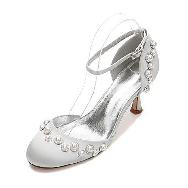 Bowknot amp;Amp; Party Women'S Flat Summer Champagne EU39 Spring Wedding Blue Satin Ruby Shoes CN39 US8 Evening UK6 Comfort Wedding Rhinestone Dress Heelivory Ox7r8O