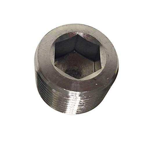 Avanty Stainless Steel 304 Forged Pipe Fitting, Socket Hex Head Plug, 3/8
