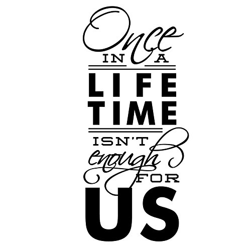 Once In A Lifetime Wall Quote - Vertical - Vinyl Wall Art Decal for Homes, Offices, Kids Rooms, Nurseries, Schools, High Schools, Colleges, Universities, Interior Designers, Architects, Remodelers by Dana Decals (Image #1)