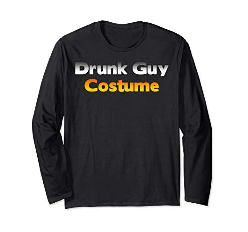 Low Budget Halloween Costume Ideas (Funny Ugly Low Budget Drunk Guy Halloween Costume Joke Gift Long Sleeve)