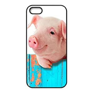 Iphone 5,5S 2D DIY Phone Back Case with Piggy Image